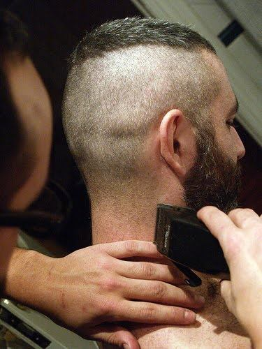Haircut Gay - Posted in Apron, Beard, Bishop's Head Harness, buzz cut, Buzz Hawk, Forced  Haircut, gloves, High n Tight | 1 Reply