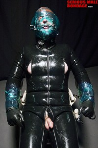 Rubber latex breath control with rubber mistress madame c - 5 3