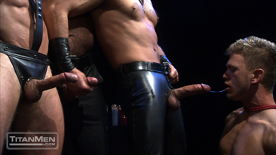 Gay men leather porn