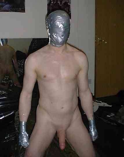Duct tape male bondage