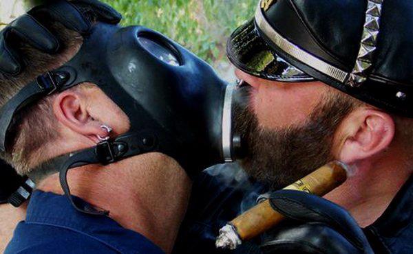 gay gas mask porn